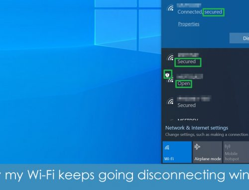 why my wifi keeps going disconnecting windows 10