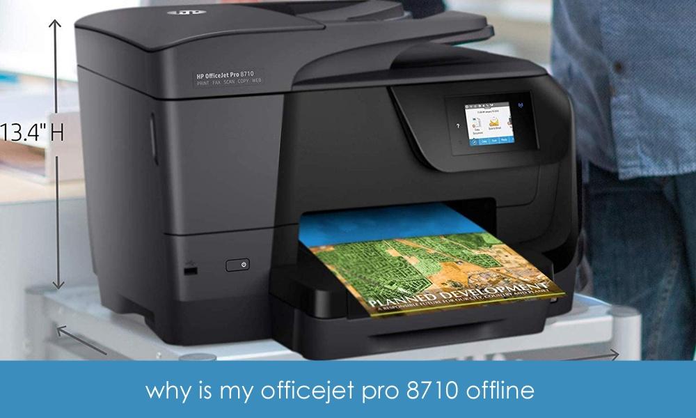 why is my officejet pro 8600 offline