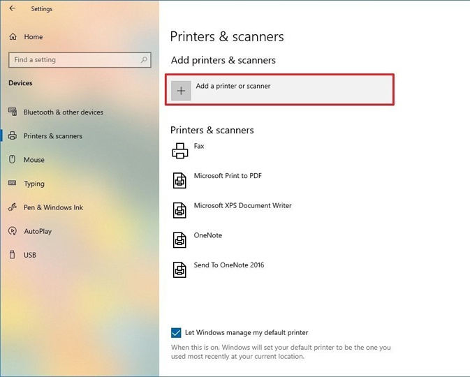 How to setup canon printer on Windows 10
