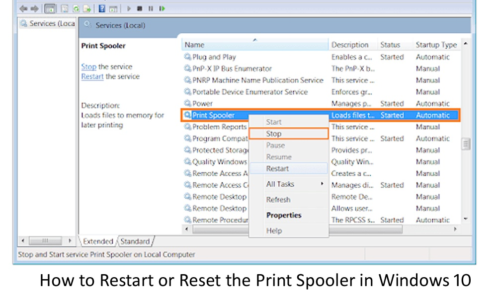 How to Restart or Reset the Print Spooler in Windows 10