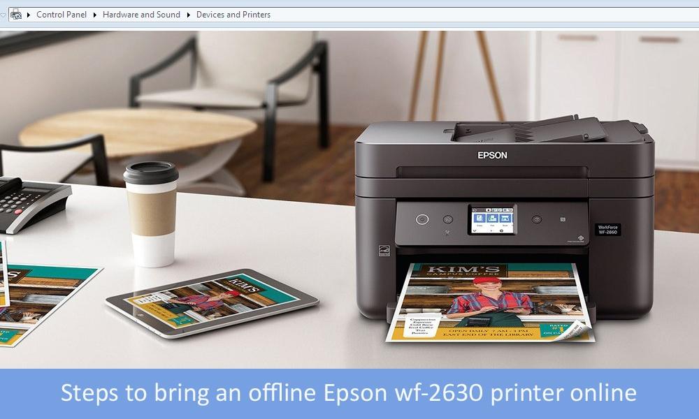 Steps to bring an offline Epson wf-2630 printer online