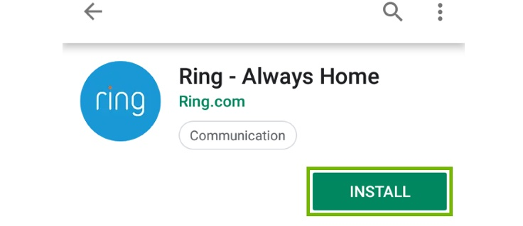 Download and Install the ring app for iPhone