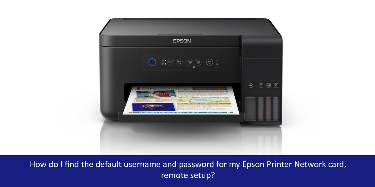How do I find the default username and password for my Epson Printer Network card,