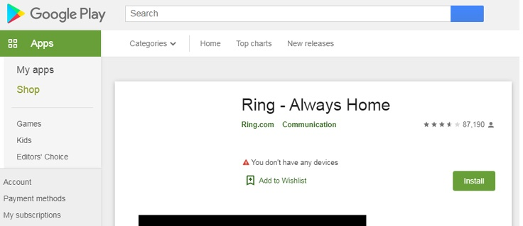 Ring App for Android mobile download how