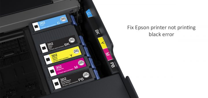 fix Epson printer not printing black error