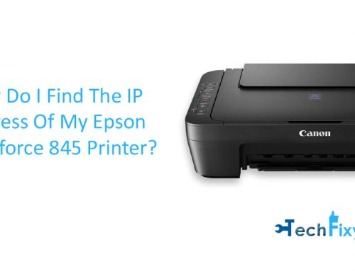 How do I Find the IP Address of my Epson Workforce 845 Printer
