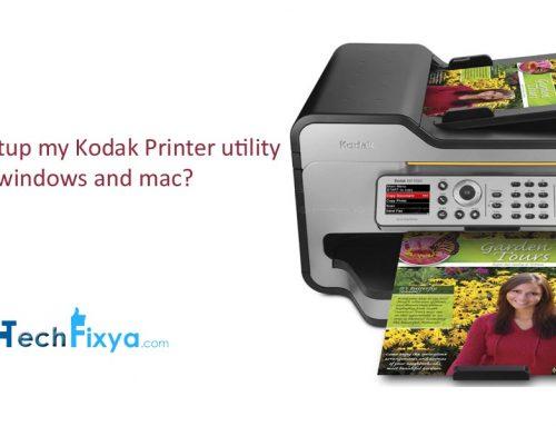 How do I setup my Kodak Printer utility on wireless laptop