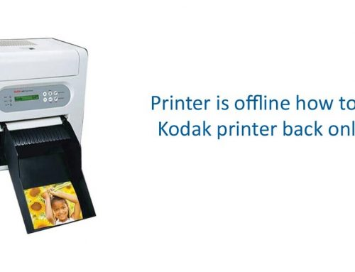 Printer is offline how to get Kodak printer back online
