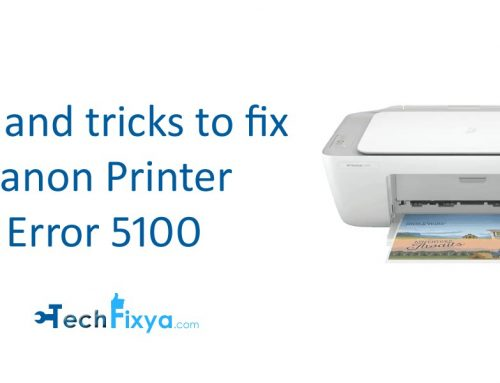 Tips and tricks to fix Canon Printer Error 5100
