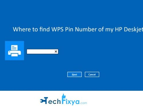 Where to find WPS Pin Number of my HP Deskjet 3630