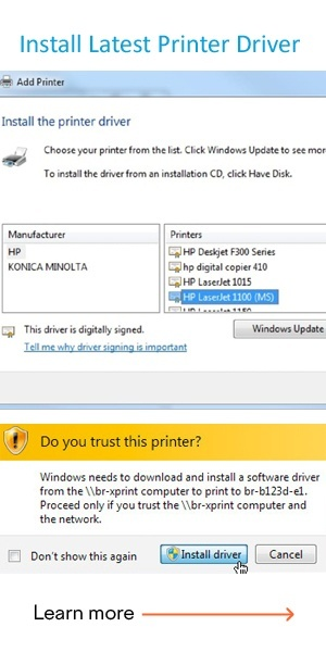 install latest printer driver