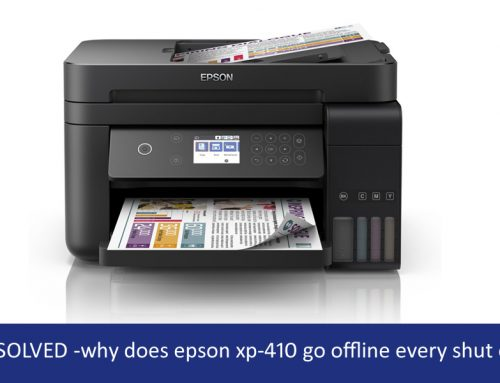 why is my epson xp-410 printer offline