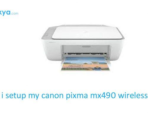 How do i setup my canon pixma mx490 wireless printer