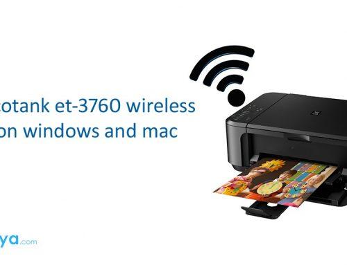 Epson ecotank et-3760 wireless setup