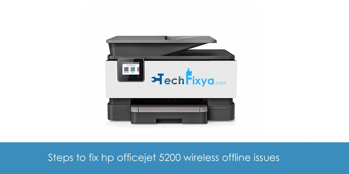 hp officejet 5200 offline error fix