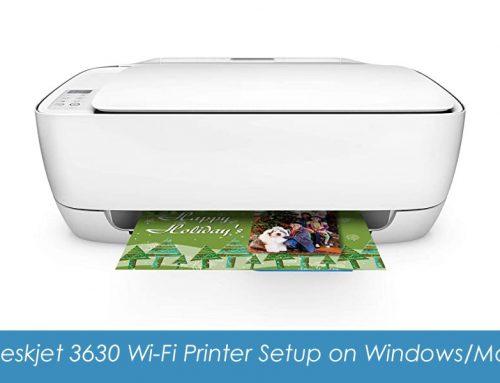 HP Deskjet 3630 Wi-Fi Printer Setup on Windows and Mac