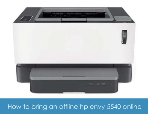 How to bring an offline hp envy 5540 online