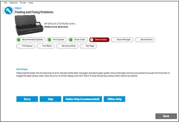 Lack of communication between devices (only for HP envy 5540 printers)