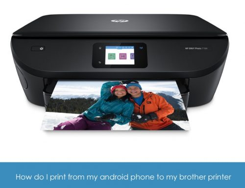 How do I print from my android phone to my Brother printer
