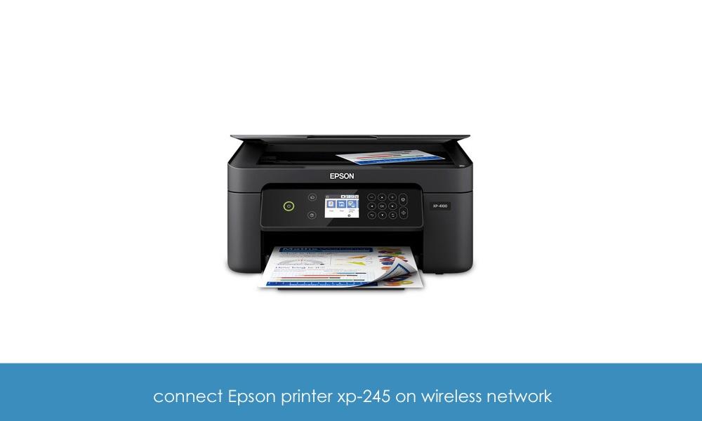 Connect Epson printer xp-2105 to WiFi